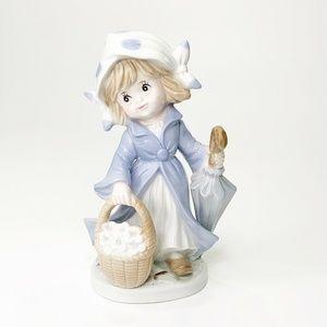 Vintage KPM Japan Figurine Little Girl with Basket